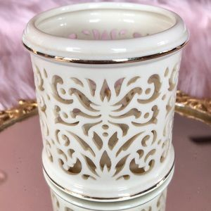 Lenox gold trimmed candle holder